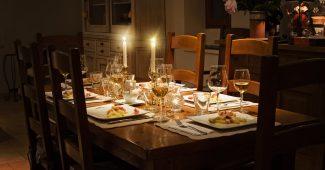 Smukt dækket bord